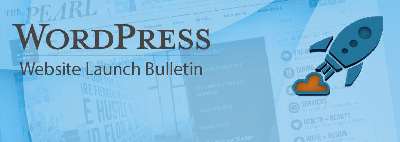 Wordpress Website Launch Bulletin